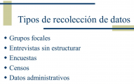 focus group recoleccion de datos